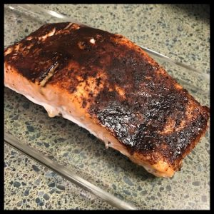 baked salmon with spiced cocoa rub