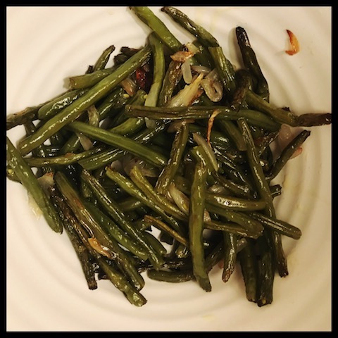 green beans, roasted, vegetables, side dish, vegetarian, vegan