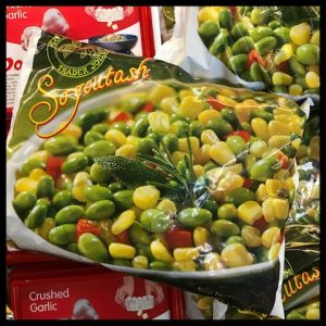 edamame, red pepper, corn, frozen vegetables