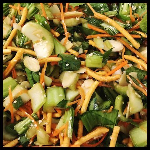bok choy, salad, healthy, gluten free, vegan, vegetarian